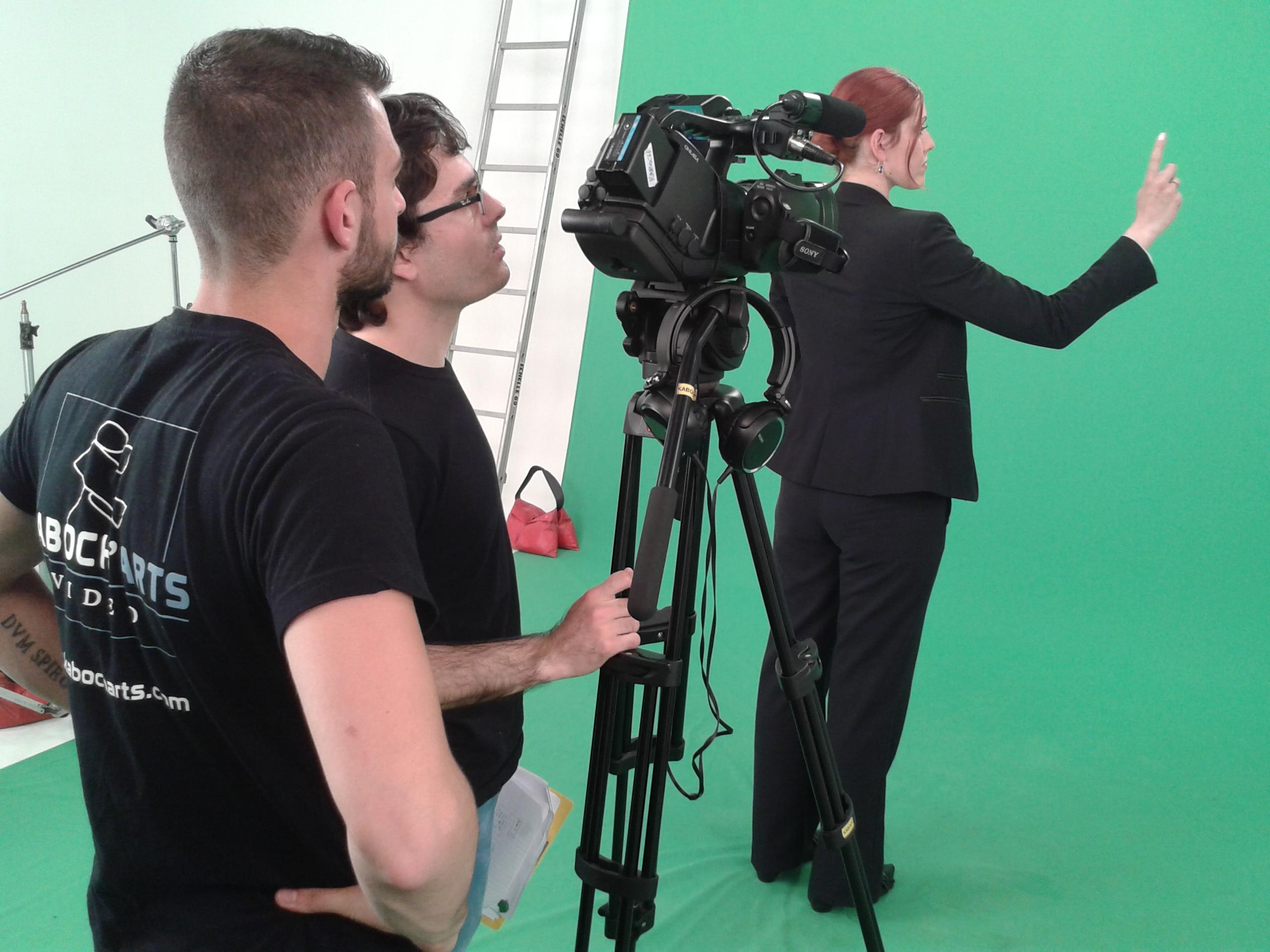 tournage vidéo sur fond vert