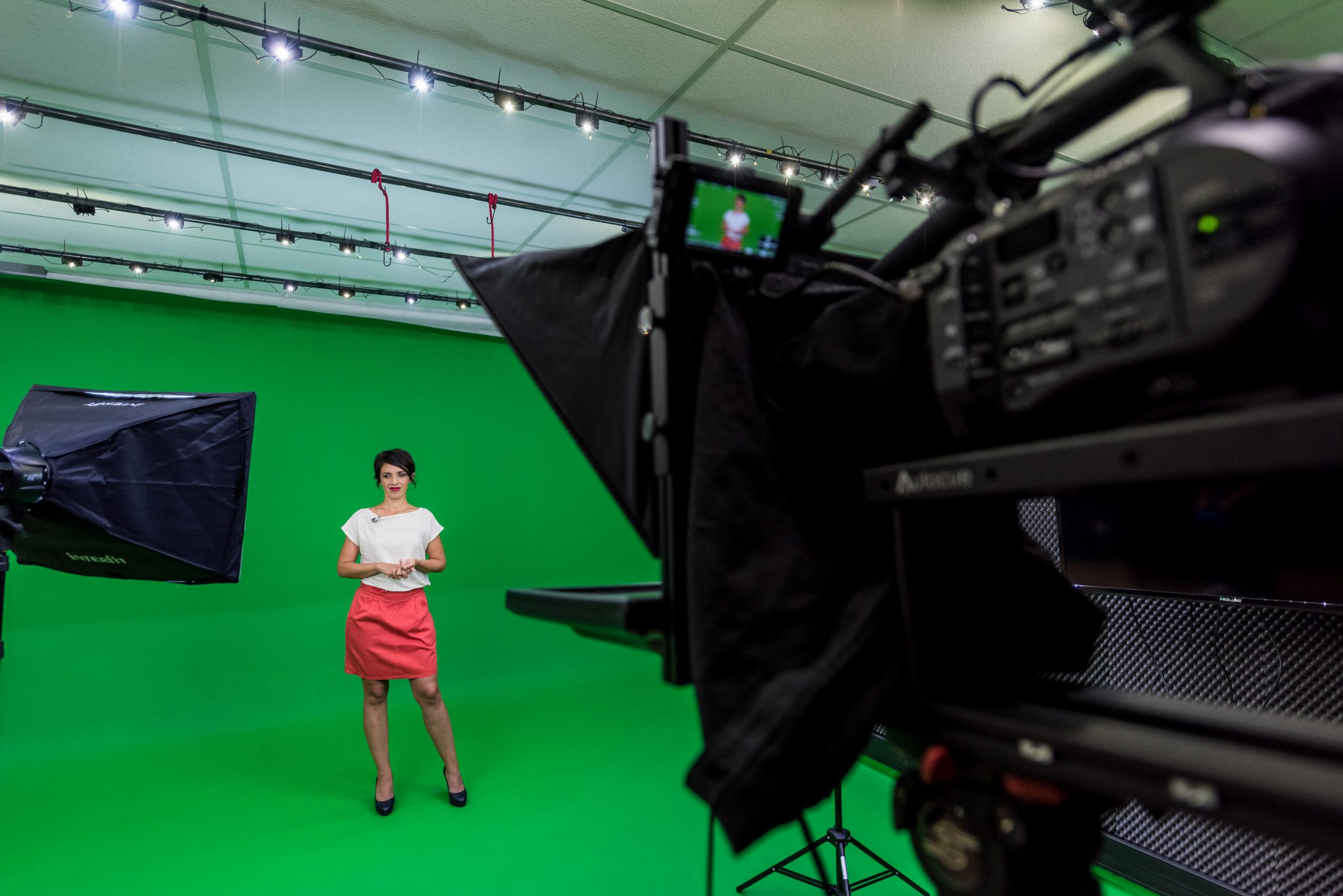 Agence communication video réalise des tournages sur fond vert